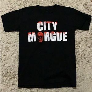 City morgue x vlone black t- shirt
